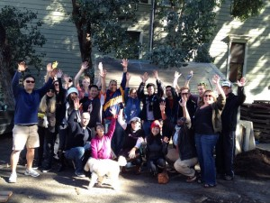 Our awesome volunteers at our Jan2013 Hayes Valley Farm volunteer event.